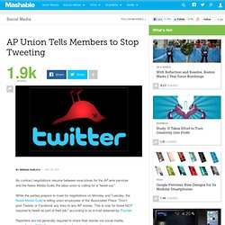 AP Union Tells Members to Stop Tweeting