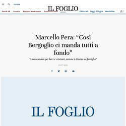 """Unioni civili: """"Così Bergoglio ci manda tutti a fondo"""". Parla Pera"""