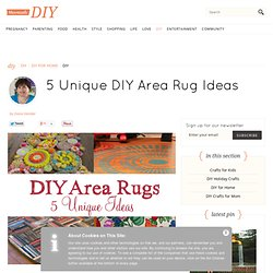 5 Unique DIY Area Rug Ideas