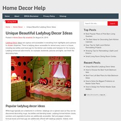 Unique Beautiful Ladybug Decor Ideas
