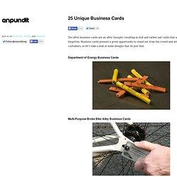 25 Unique Business Cards