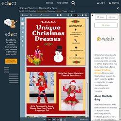 Unique Christmas Dresses for Girls