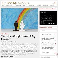 The Unique Complications of Gay Divorce