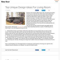 Top Unique Design Ideas for Living Room