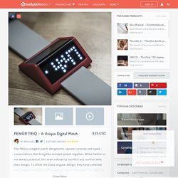 FEMÛR TRIQ - A Unique Digital Watch Review » The Gadget Flow