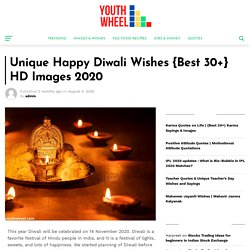 Unique Happy Diwali Wishes {Best 30+} HD Images 2020 - Youthwheel