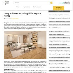 Unique ideas for using LEDs in your home
