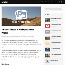 8 Unique Places to Find Quality Free Photos