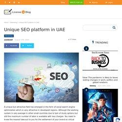 Unique SEO Platform In UAE - License To Blog