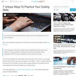 7 Unique Ways To Practice Your Coding Skills