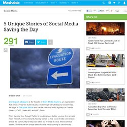 5 Unique Stories of Social Media Saving the Day