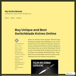 Buy Unique and Best Switchblade Knives Online