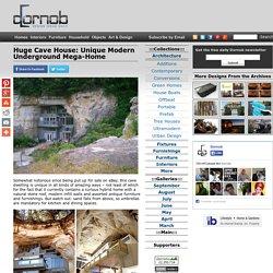 Huge Cave House: Unique Modern Underground Mega-Home