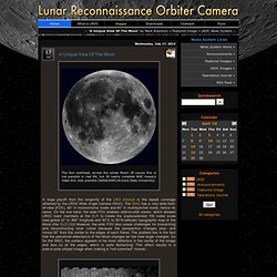 A Unique View Of The Moon - LROC News System