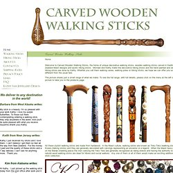 Unique hand carved wooden walking sticks and other decorative wa