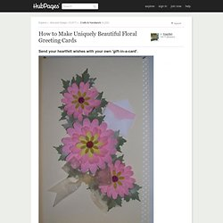 Make Beautiful Floral Greeting Cards