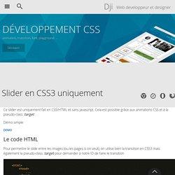Un slider en CSS3 uniquement