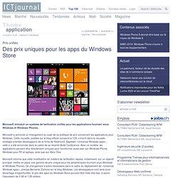 Microsoft impose un tarif unique pour les apps du Windows Store