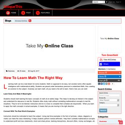 How To Learn Math The Right Way
