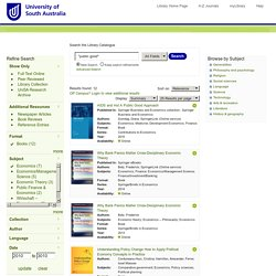 UniSA Library Catalogue