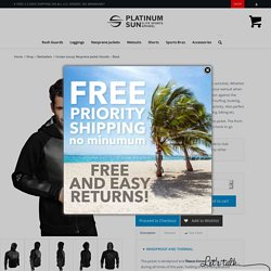 Unisex luxury Neoprene Jacket Hoodie - Black - Platinum Sun