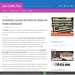 Unishared. La prise de notes en classe en mode collaboratif.