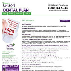 UNISON Dental NHS Patient Plan