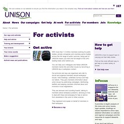 UNISON the public service union - Activists zone