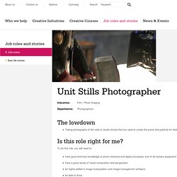 Unit Stills Photographer