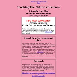 Unit Plan: Teaching the Nature of Science
