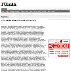 Nuovi occhi per i Media - l'Unità - 18 ottobre 2010