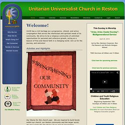 The Unitarian Universalist Church in Reston - Home