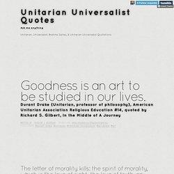 Unitarian Universalist Quotes