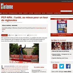 PCF-NPA : l'unité, au mieux pour un tour de régionales