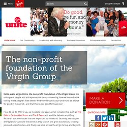Virgin Unite - The non-profit foundation of the Virgin group