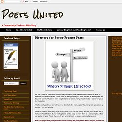 Directory for Poetry Prompt Pages