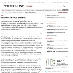 USA: Die United-Fruit-Doktrin