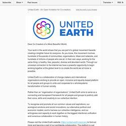 United Earth: An Open Invitation for Co-creation