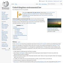 United Kingdom environmental law