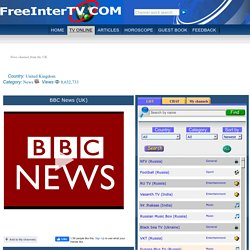 Watch BBC News Live TV from United Kingdom - Online TV channel