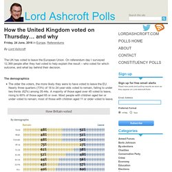 How the United Kingdom voted on Thursday... and why