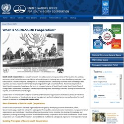 United Nations Office for South-South Cooperation - What is SSC?