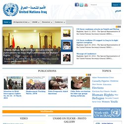 Welcome to UNAMI Web Portal for UN Agencies Working in Iraq!