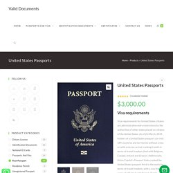 United States Passports - Valid Documents