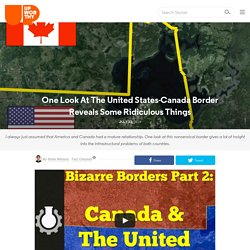 One Look At The United States-Canada Border Reveals Some Ridiculous Things