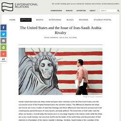 The United States and the Issue of Iran-Saudi Arabia Rivalry