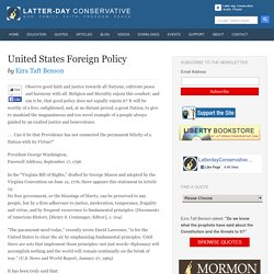 United States Foreign Policy – Ezra Taft Benson - Latter-day Conservative