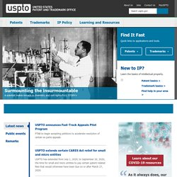 United States Patent and Trademark Office Home Page