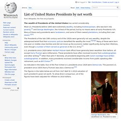 List of United States Presidents by net worth