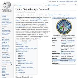 United States Strategic Command - Wikipedia